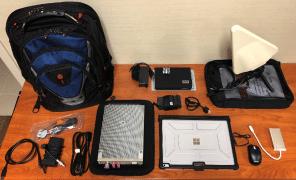 KSRFL & KSRFL-2 Kestrel Mobile SIGINT Backpack Kits RF Spectrum Analyzer